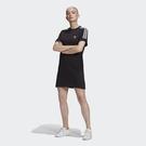 【跨店好好買折後$1780】Adidas Original Adicolor 女裝 短袖 洋裝 連身裙 捲袖 寬鬆 黑 GN2777