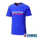 【超取】K-SWISS KS USA Tee印花短袖T恤-男-藍