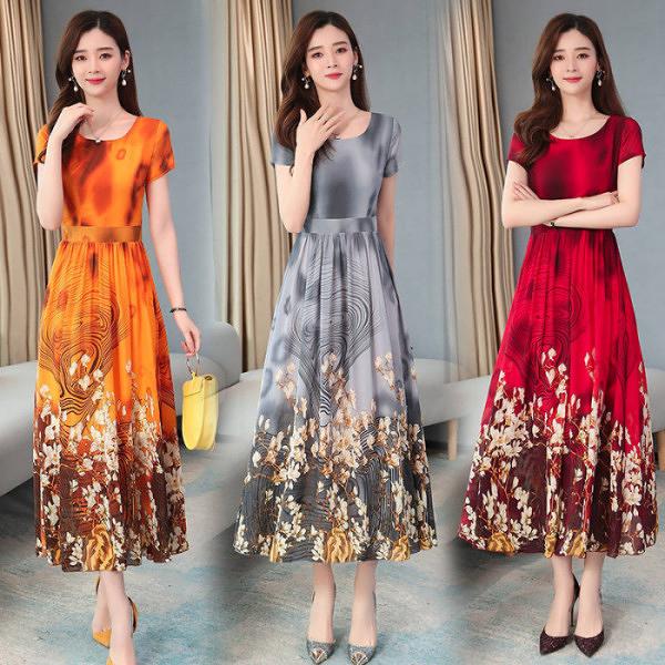 雪紡洋裝 2021年夏季臺灣新款女裝連衣裙40歲女神范氣質長裙貴夫人雪紡裙子 霓裳細軟