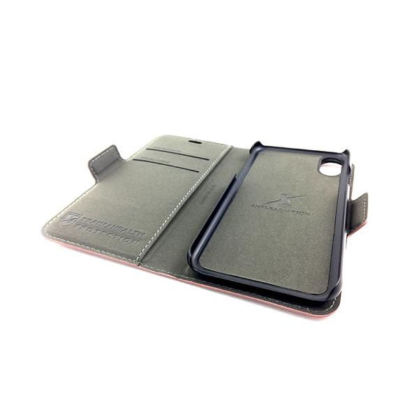 X-Shell 360° iPhone Xs / X 防電磁波手機皮套 魅力紅