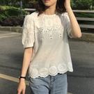 文青氣質刺繡上衣襯衫【83-12-83072-21】ibella 艾貝拉