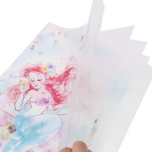 DISNEY 迪士尼公主日本製造型五層分類文件夾(小美人魚虹彩花漾)★funbox★KAMIO_KM09884