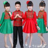 元旦男女唐裝漢服中國風式表演出喜慶過年禮服公主裙旗袍春夏 時尚潮流
