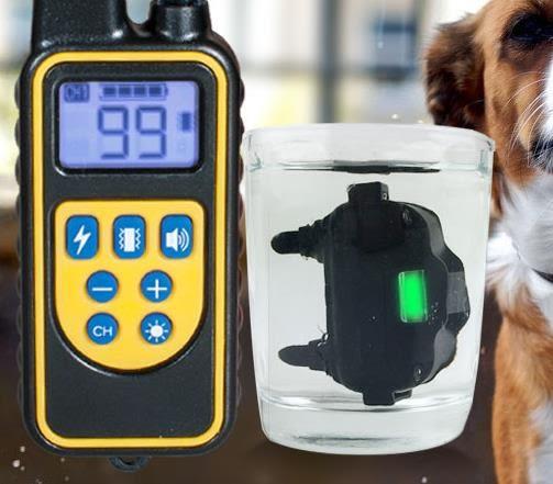 款遙控寵物止吠器大小型犬99檔電擊防狗叫訓狗器泰迪電擊項圈 歐美韓