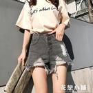 夏季新款破洞高腰牛仔短褲女韓版復古寬鬆闊腿褲百搭學生短褲熱褲