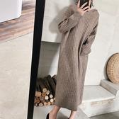 慵懶風連帽針織洋裝 獨具衣格 J2367