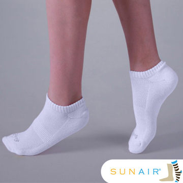 sunair 滅菌除臭襪子 -標準型運動船襪 M(21~24.5) (白) /SA2003