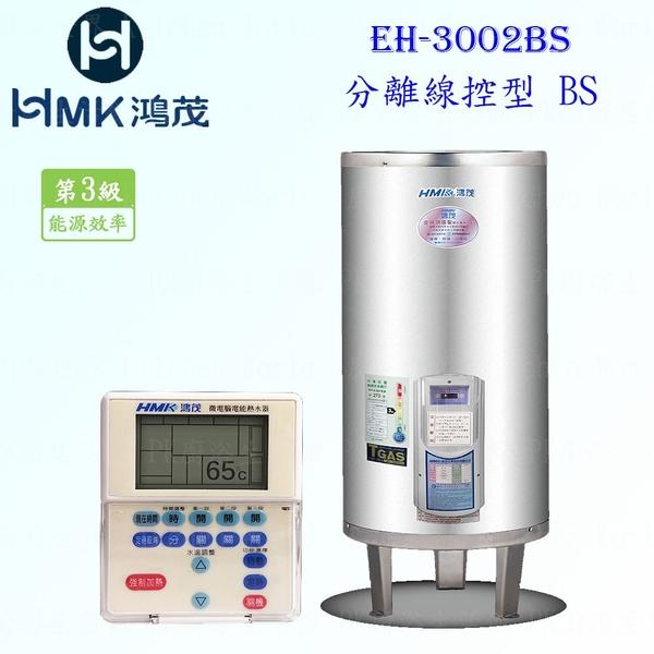 【PK廚浴生活館】 高雄 HMK鴻茂 EH-3002BS 110L 分離線控型 電熱水器 EH-3002 實體店面 可刷卡