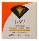 金時代書香咖啡 CAFEC 三洋 T-92 錐形漂白淺焙專用濾紙 01 1-2人用 40入裝 CFD-01-T-92