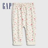 Gap嬰兒 活力花卉鬆緊休閒褲 543866-象牙白