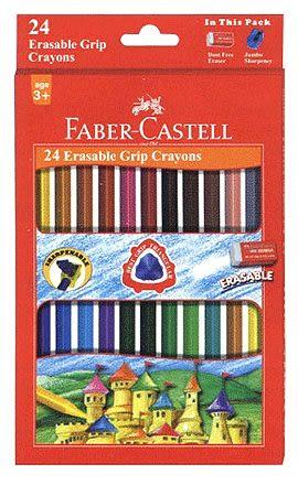 Faber-Castell握得住可擦拭蠟筆24色 *122924