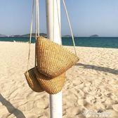 海灘度假風草編織麻繩側背包斜背休閒包包  黛尼時尚精品