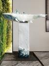 尺寸超過45公分請下宅配簡約現代落地流水裝飾辦公室樹脂工藝品魚擺件客廳自流噴泉裝飾品