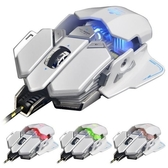 X7 白色 變形金剛可程式 電競滑鼠 光學滑鼠 頂級遊戲芯片 十鍵自定義 按鍵壽命達1000萬次