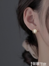耳環 【巷南】925純銀貓眼石耳釘女小眾設計耳環2021年新款潮耳飾品女 智慧e家 新品