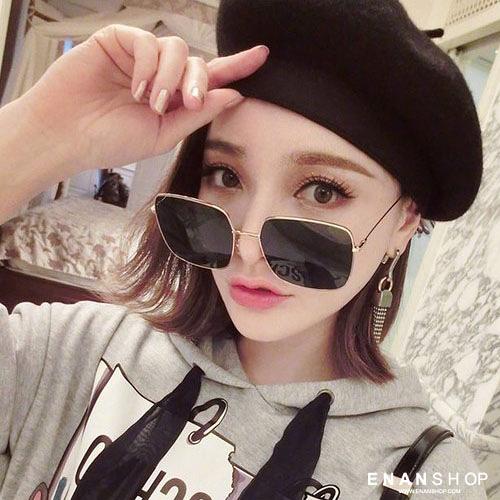 惡南宅急店【0050M】韓版方框墨鏡 周揚青同款 金屬框復古墨鏡 太陽眼鏡 墨鏡