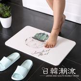 硅藻泥腳墊仙人掌硅藻土腳墊浴室衛生間廚房防滑吸水地墊來圖定制