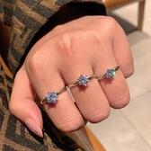 戒指 S925純銀戒指女仿真鉆戒莫桑石六爪一克拉鋯石50分時尚個性男結婚 城市科技