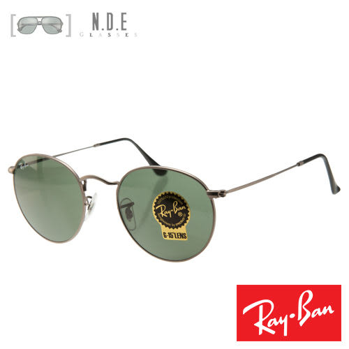 【Ray Ban】雷朋圓框灰綠太陽眼鏡(RB3447 Round Metal 029)