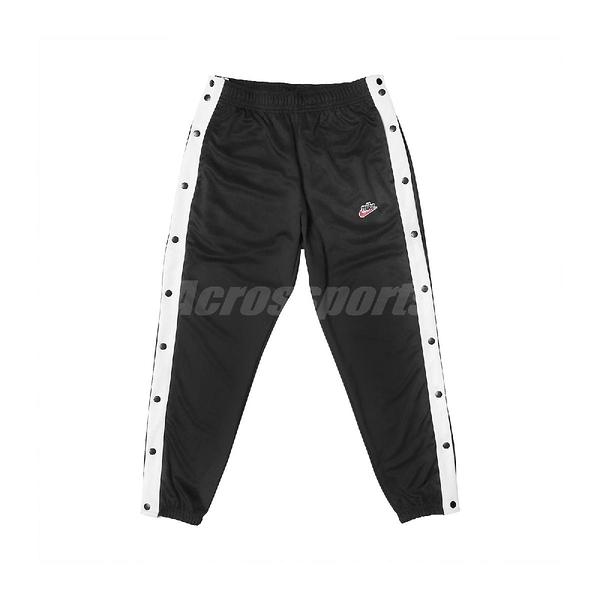 Nike 長褲 NSW Tearaway Trousers 黑 白 男款 排扣 【PUMP306】 BV2628-010