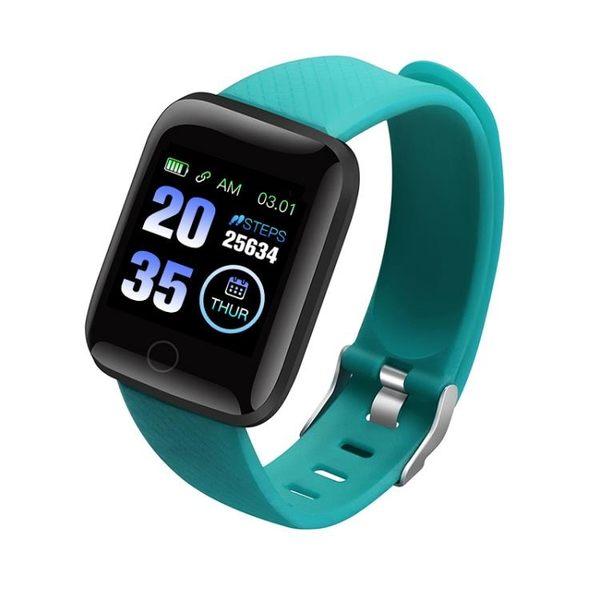 智慧手環 116plus彩屏D13心率1.3寸血壓睡眠A6S防水USB直充優活APP 糖果時尚