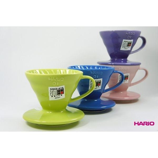 【HARIO】V60彩虹磁石咖啡濾杯 01 陶瓷滴漏式咖啡濾器 (多色任選)