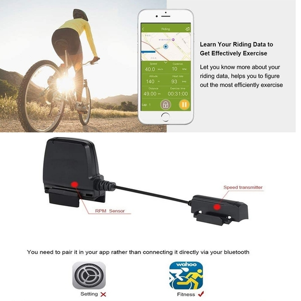 POSMA 戶外運動運動健身踏頻感測器 (飛輪/健身車可用) BCB30