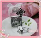 一定要幸福哦~~超大鑽石戒指鑰匙圈(透明)、婚禮小物、求婚