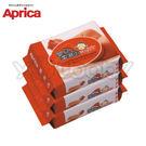 愛普力卡 Aprica 嬰兒超柔濕巾/濕紙巾20抽(3包裝) -外出包濕巾