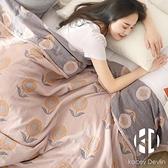 全棉紗布被子午睡空調沙發蓋毯竹棉單雙人毛巾被純棉夏季床單【Kacey Devlin】