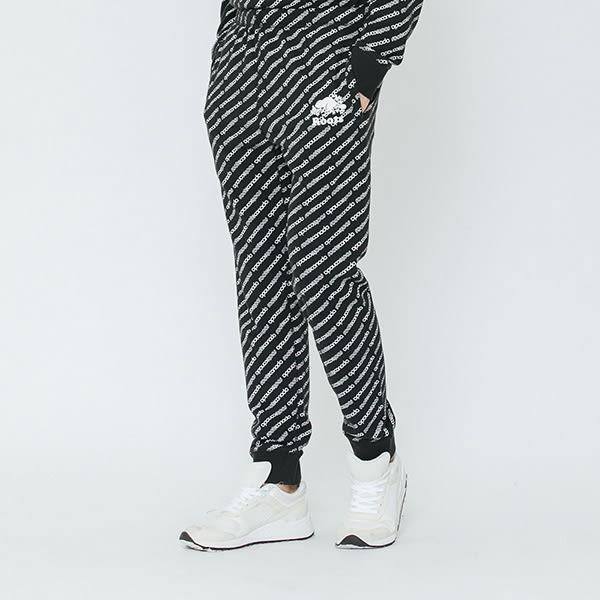 男裝Roots 派尼頓滿版印花棉質長褲 - 黑色