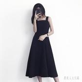 法式復古時尚2020新款夏季洋氣連身裙女百搭顯瘦氣質潮流吊帶洋裝 yu12445『俏美人大尺碼』