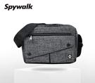 SPYWALK 斜口袋素色休閒 側背包 NO:1765