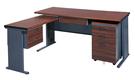 568-4 BTH150L秘書桌(深灰腳)(整組) W150×D70×H74公分