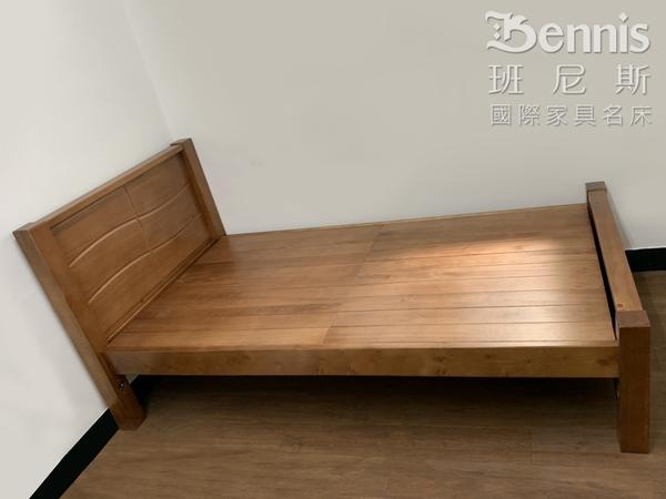 【班尼斯國際名床】莎維瑪 天然100%全實木床架。5尺雙人