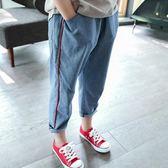 女童哈倫牛仔褲夏裝中大童棉質寬鬆小腳休閒褲長褲子潮 交換禮物熱銷款
