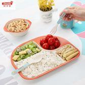 寶寶餐盤竹纖維兒童餐具創意卡通幼兒園早餐盤子分隔分格盤套裝-Ifashion