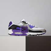 Nike Air Max 90 男女鞋 黑灰紫 休閒 復古經典 氣墊 慢跑鞋 CD0881-104 / CD0490-103