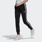 Adidas W 3s Ft C Pt [GM8733] 女 長褲 運動 休閒 訓練 縮口 法國棉 修身 愛迪達 黑