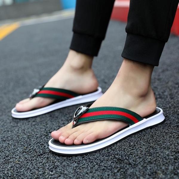 夾腳拖鞋 2020新款人字拖男夏季時尚外穿耐磨涼拖夾腳拖鞋韓版潮流個性防滑