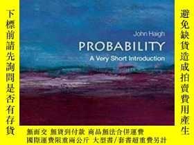 二手書博民逛書店Probability:罕見A Very Short Introduction-概率:非常簡短的介紹Y4366