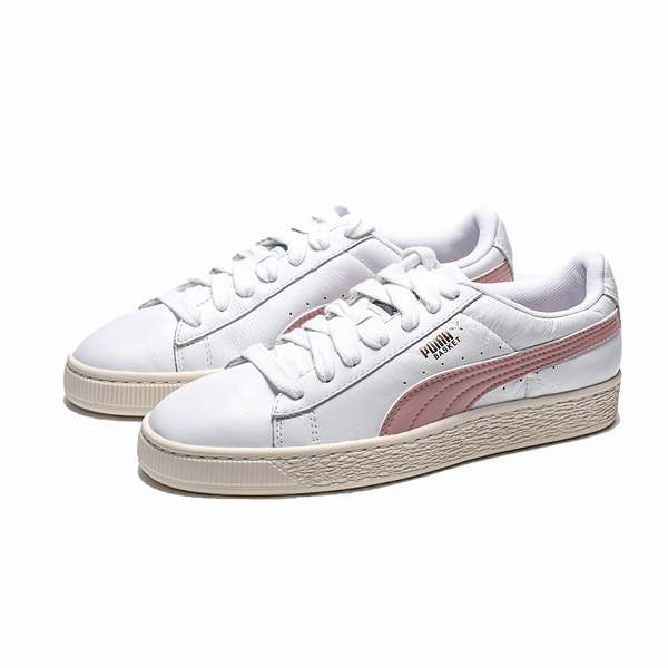 PUMA BASKET CLASSIC LFS 白 粉 奶油底 皮革 休閒鞋 女 (布魯克林) 35436735