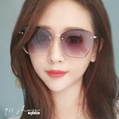Sequin.優雅切角多邊形無框漸層太陽眼鏡【f7106】911 SHOP