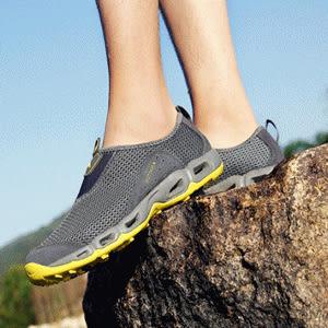 ♥巨安網購♥【W21108E3】春夏新款登山鞋男戶外休閒鞋情侶徒步戶外鞋運動鞋(深灰)
