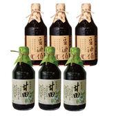 【豆油伯】缸甘醬油組(缸底醬油x3+甘田薄田醬油x3)
