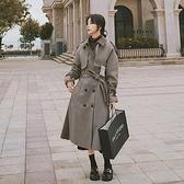 毛呢外套-氣質千鳥紋寬鬆冬季長版女大衣73yx14[時尚巴黎]