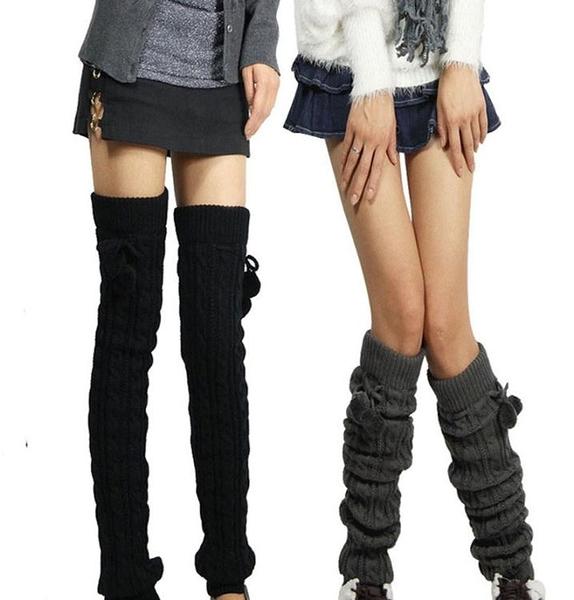 秋冬季加厚加長過膝女堆堆襪套羊毛韓國防滑護腿套保暖長筒襪護膝