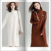 SHINE KOREA 秋冬時尚氣質顯瘦高領連身裙