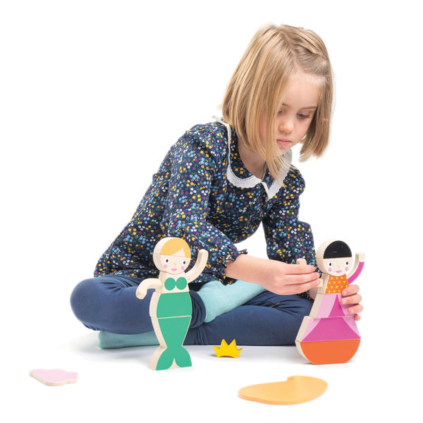 【美國Tender Leaf Toys】瑪格蕾絲公主(內附19塊磁性積木)