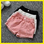 新年鉅惠女童夏季牛仔短褲韓版破洞中大童兒童白色純棉外穿百搭寬鬆熱褲子 芥末原創